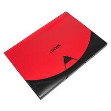 A4 Expanding File Folder Red & Black 13 Part Strong Plastic Concertina Organiser