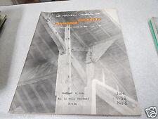 LE NOUVEAU JOURNAL DE CHARPENTE MENUISERIE N° 6 juin 1958 H VIAL *
