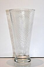 Vintage Anchor Hocking RARE MISTAKE ERROR Spiral Clear Pilsner Beer Glass
