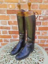 Vintage Leather Hunting Boots old fox hunt boots by Moss bros of London
