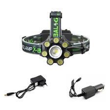 Ricaricabile Torcia Lampada da testa frontale CREE XM-L T6 LED 20000LM Luce 8LED