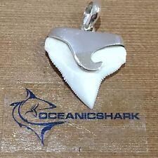 B45 27MM BULL SHARK TOOTH SILVER U WILL GET ITEM IN PHOTO! SWIRL WAVE SURF AQUA