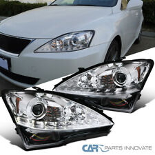 For 06-09 Lexus IS250 IS350 Sequential LED DRL Signal Clear Projector Headlights