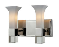 Z-Lite 611-2v-Ch Lotus 2 Light Chrome Vanity Wall Light