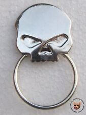 SKULL BIKER PIN WITH SUNGLASS HOLDER ** MADE IN USA ** SUN GLASS HOLDER