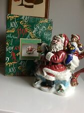 Fitz & Floyd Omnibus Christmas Toyland Santa Teapot With Original Box
