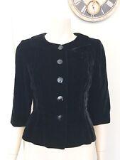 Vintage Bonwit Teller Black Velvet Peplum jacket Women's