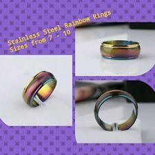 Tiger Eye Rainbow rings
