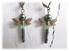 Ohrringe - Libelle - nostalgisch mint Vintagestil Ohrhänger Dragonfly folklore
