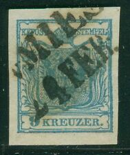 Österreich 1850 9 Kreuzer gestempelt v. Mies Müller 300 Punkte Befund BPP