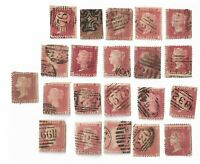 UK Queen Victoria Penny Red stamps x 21  (All damaged) Batch 4