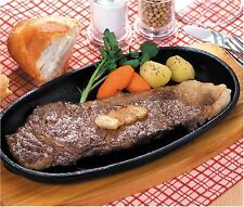 Set of 2 Cast Iron Sizzling Steak Plate S-1809