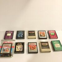 Lot of 10 Atari 2600 Games Asteroids, Donkey Kong, Kangaroo Good Condition
