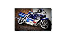 1989 gsxr 750 Bike Motorcycle A4 Photo Poster