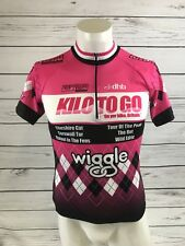 Lovely DHB LADIES CYCLING JERSEY PINK SIZE 12 | Logo Advertising | A49
