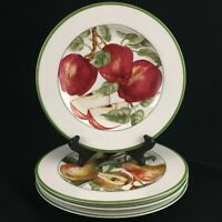 "Set of 4 Salad Dessert Plates 8"" by American Atelier Blossom Breeze Fruit Motif"