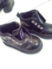 Buster Brown Black Lace Up Dress Shoes Child Toddler Size 6M Black patent