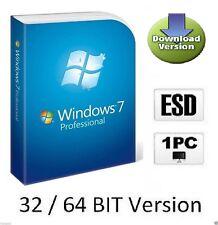Windows 7 Professional Pro OEM 32/64 Bit Multilanguage Key