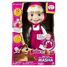Masha And The Bear 12 Inch Feature Interactive Doll Toy Giggle Play