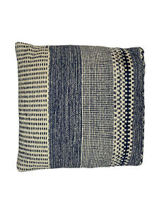 "Brentwood Woven Decorative Chunky Cotton Design Pillow - Grey, 20"" x 20"" Decor"