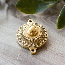 Sonnette en Laiton Brillant, Art Nouveau, Tournant Du Siècle Collier de Serrage