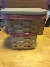 Longaberger Breast Cancer Basket, white stain, new condition.Free Shipping!