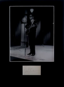 ROY ORBISON signed autograph PHOTO DISPLAY