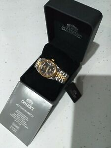 Orient Oyster President Day Date 36mm. Made In Japan black dial datejust