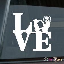 Love Shih Tzu Sticker Die Cut Vinyl - park lion dog