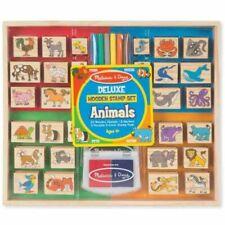 Melissa & Doug 2394 Deluxe Wooden Stamp Set - Animals