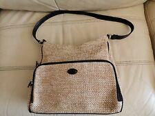 Natural basket weave bag