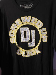 DJ Screw Mitchell & Ness T-shirt Mens XXL S.U.C. Houston Texas Travis Scott