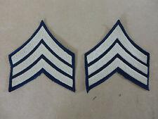 US ARMY WW2 Ranks Paar Dienstgradabzeichen Sergeant Rang Abzeichen Uniform Patch