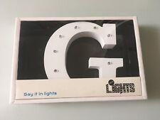 Luces en decir que en luces Lightbox en forma de letra G Decoración Homewares