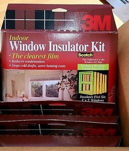 3M Window Insulator INDOOR 6 Kits Clear Film Insulation Insulates 3'x5' Windows