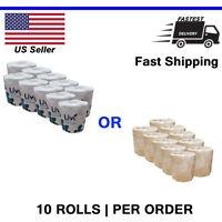 10 Toilet Paper Bath Tissue Bathroom Premium White Soft - USA - FAST SHIP