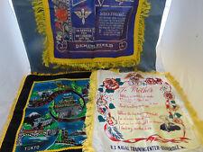 3 Souvenir pillow covers Japan US Air Force New Mexico Mother US Navy Bainbridge