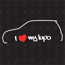 Amo mio VW Lupo - Tuning Adesivo,Auto Ventilatore adesivo, Car Silhouette