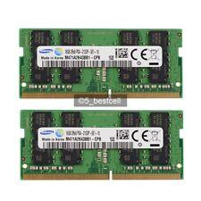 Samsung PC4-17000 32GB 2X 16GB DDR4-2133 MHz 260Pin PC4-2133P Laptop Memory Ram