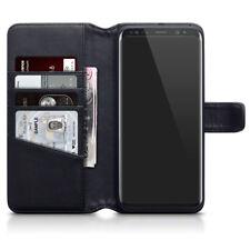 de lujo tipo cartera piel auténtica Funda para Samsung Galaxy S8 Plus - Negro
