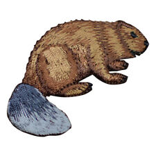Beaver Applique Patch (Iron on)