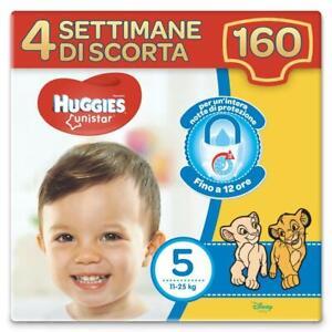 Huggies Pannolini Unistar Taglia 5 Maxi Confezione da 160 Pannolini (4 Settimane