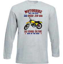 VINTAGE SPANISH MOTORCYCLE OSSA 250 SUPER - NEW COTTON T-SHIRT
