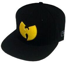 Wu-Wear Wu Symbol Logo Snapback Cap Wu-Tang Clan Black Schwarz Bonnet Mens New