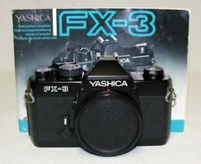 YASHICA FX-3 35mm SLR Film Camera Body Only Tested Working Recovered w/New Seals