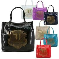 TRUSSARDI Jeans BORSA donna shopping bag spalla vernice grande nuovi arrivi DD
