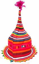 HAT festival rave party costume psychedelic fair ethnic tribe TALL CONE SHAPED