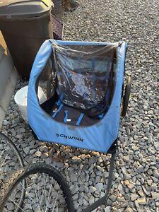 Schwinn 13SC682WME 2 Passenger Foldable Bike Trailer - Blue/Black