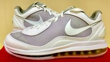 Nike AIR MAX 360 BB LOW MENS 8.5 FLYWIRE LEATHER WHITE Basketball DS 441947 101