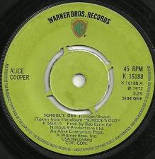 ALICE COOPER - SCHOOL'S OUT / GUTTER CAT - WB 1972 - CLASSIC ROCK SUMMER ANTHEM